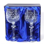 Crystal Wine Glasses Nan & Grandad Golden Anniversary  ref NGWG